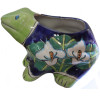 Lily Flower and Green Frog Talavera Planter