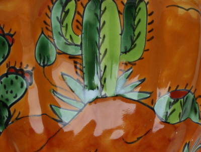 Desert Talavera Planter Close-Up