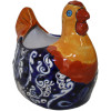 Blue Chicken Talavera Ceramic Planter