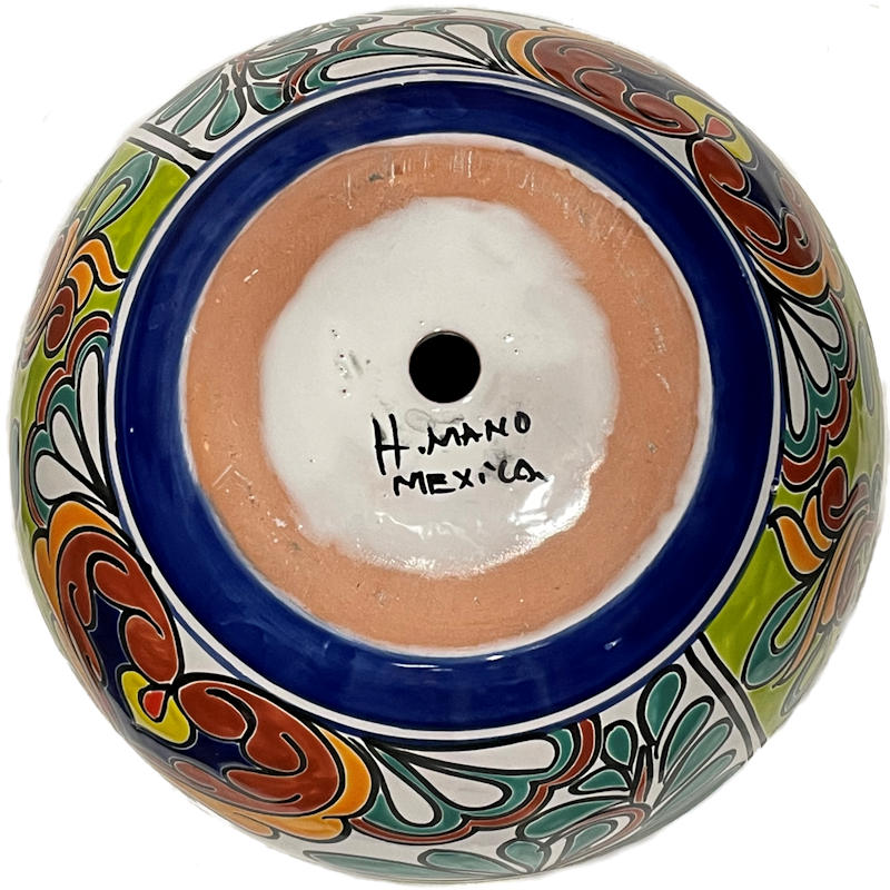 Rainbow Talavera Ceramic Pot Details