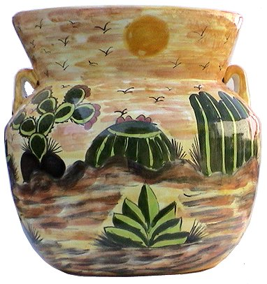 Huge Desert Talavera Ceramic Pot