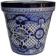 Small Blue Deco Talavera Ceramic Pot