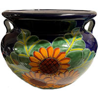 Big Sunflower Talavera Ceramic Pot