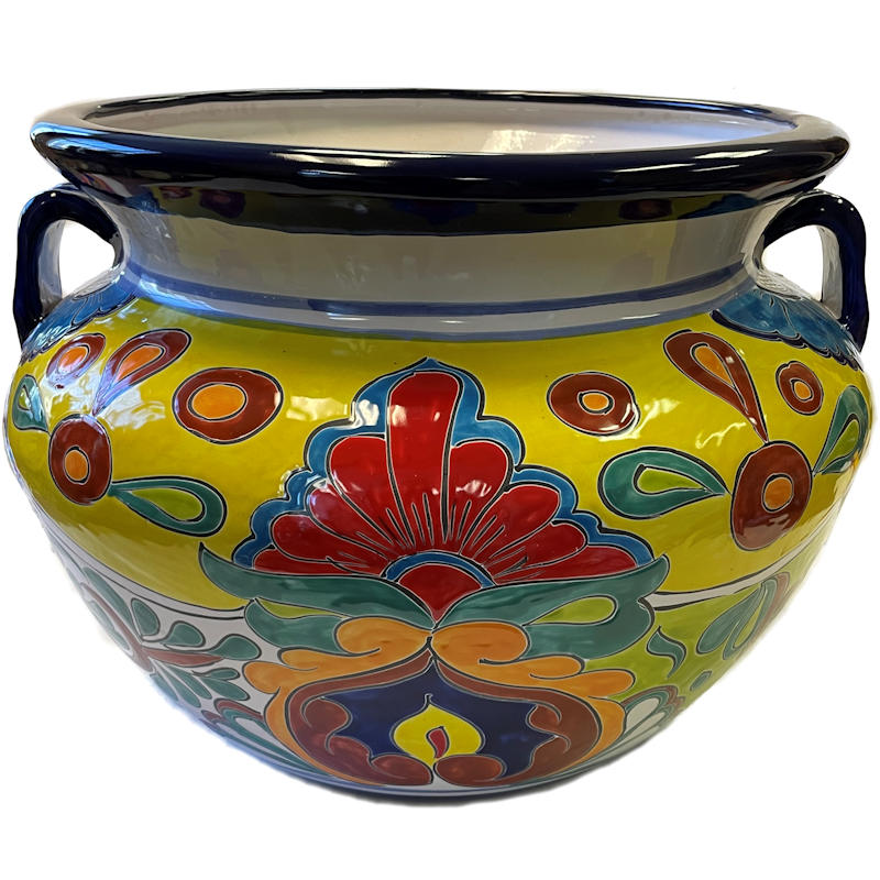 Big Rainbow Ceramic Mexican Pot