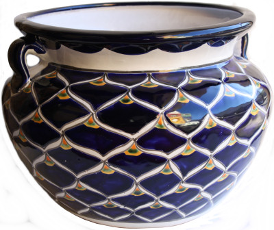Blue Pea Talavera Ceramic Pot