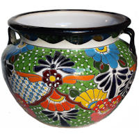 Large Paracho Talavera Mexican Ceramic Pot
