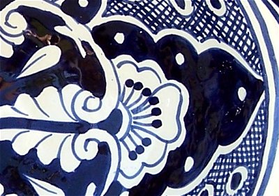 Traditional Ceramic Talavera Sink Close-Up