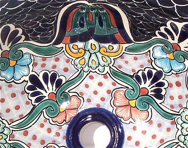 Turtle Ceramic Talavera Sink Close-Up