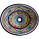 Yellow Greca Ceramic Talavera Sink
