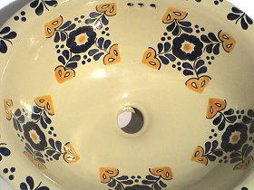 Hacienda Ceramic Talavera Sink Close-Up