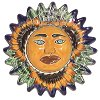 Sunflower Small Talavera Ceramic Sun Face