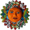 Multicolor Small Talavera Ceramic Sun Face