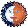 Big Eclipse Talavera Ceramic Sun Face
