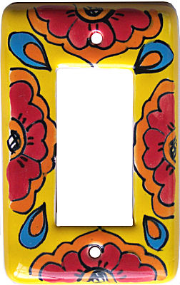 Canary Talavera Single Decora Switch Plate