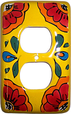 Canary Talavera Outlet Switch Plate