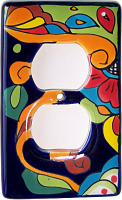 Rainbow Talavera Outlet Switch Plate
