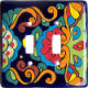 Rainbow Talavera Ceramic Double Switch Plate