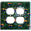 Peacock Talavera Double Outlet Switch Plate