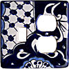 Traditional Talavera Toggle-Outlet Switch Plate