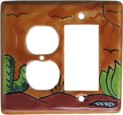 Desert Talavera Decora-Outlet Switch Plate
