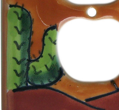 Desert Talavera Decora-Outlet Switch Plate Close-Up