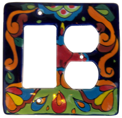 Rainbow Talavera Decora-Outlet Switch Plate