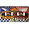 Mantel Talavera Quadruple Toggle Switch Plate