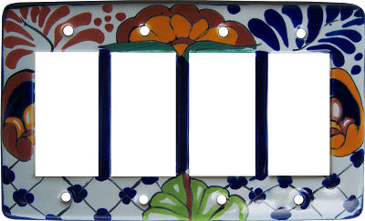 Mantel Talavera Quadruple Decora Switch Plate