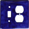 Blue Talavera Toggle-Outlet Switch Plate
