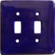 Cobalt Blue Talavera Ceramic Double Toggle Plate
