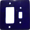Cobalt Blue Talavera Toggle-GFI Switch Plate
