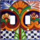 Double Toggle Mantel Talavera Ceramic Switch Plate