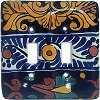 Double Toggle Marigold Talavera Ceramic Switch Plate