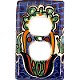 Blue Mesh Talavera Ceramic Outlet Switch Plate