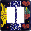 Double Decora Marigold Talavera Switch Plate
