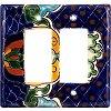 Double Decora Blue Mesh Talavera Switch Plate