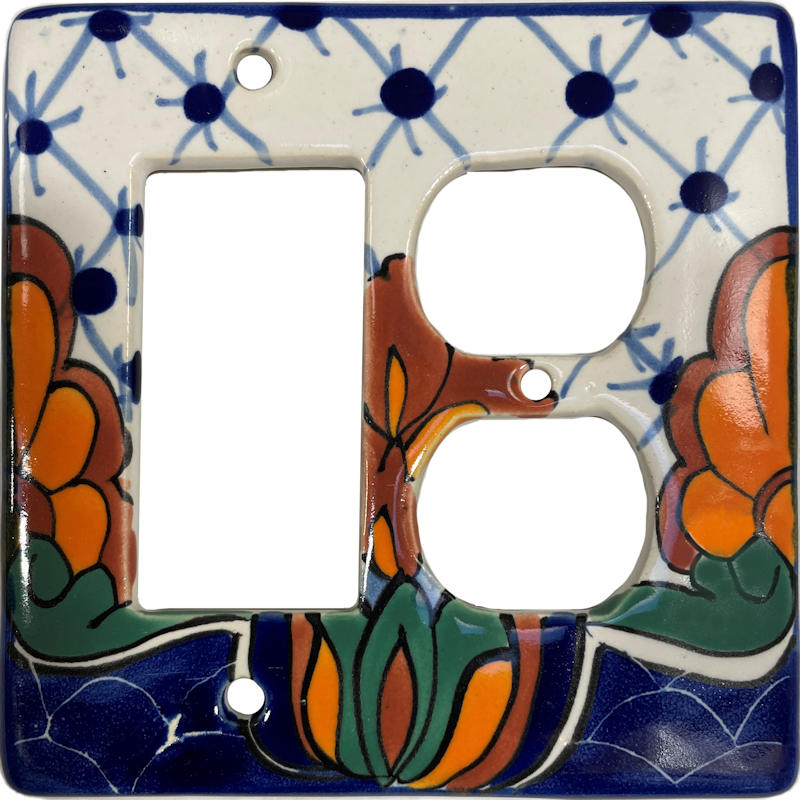 Decora-Outlet Turtle Talavera Switch Plate