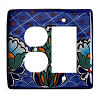 Decora-Outlet Blue Mesh Talavera Switch Plate