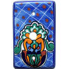 Blue Mesh Talavera TV Cable Plate