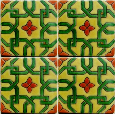 Alhambra Morocco Talavera Mexican Tile Details