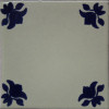 Blue Lily Talavera Mexican Tile