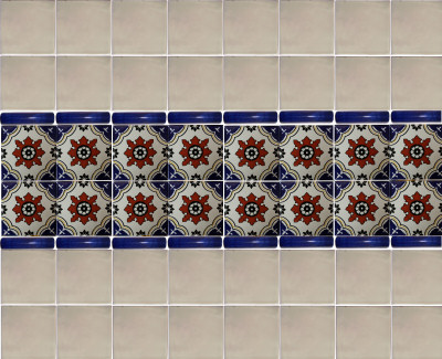 Calabria Talavera Mexican Tile Close-Up