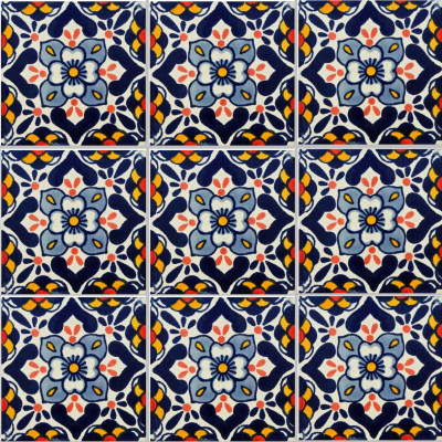Vezzano Talavera Mexican Tile Close-Up