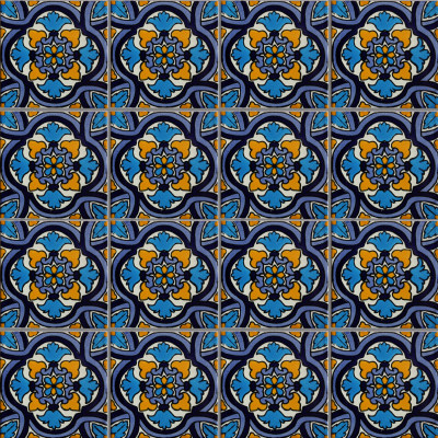 Movas Talavera Mexican Tile Close-Up