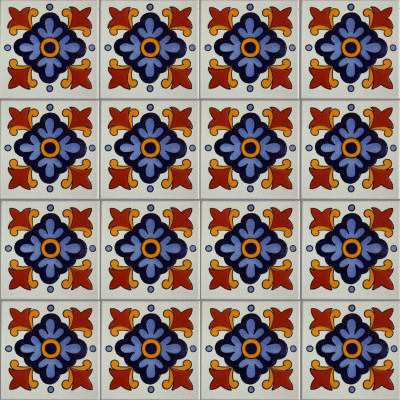 Natora Talavera Mexican Tile Close-Up