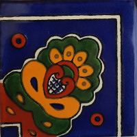 Corner Blue Royal Talavera Mexican Tile