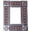 Small Silver Orizaba Tile Talavera Tin Mirror