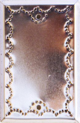 Single Cover Silver Tin Switchplate