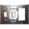 Double Toggle-Decora Silver Tin Switchplate