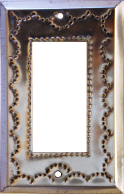 Single Decora Silver Tin Switchplate